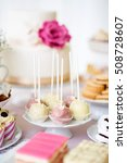 cake pops on cakestand and... | Shutterstock . vector #508728607