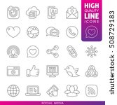 social media high quality line... | Shutterstock .eps vector #508729183