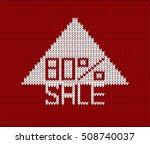 80  arrow banner sale... | Shutterstock .eps vector #508740037