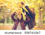 young couple having fun in a... | Shutterstock . vector #508761067