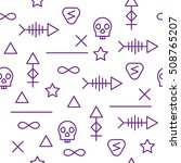 seamless pattern in purple and... | Shutterstock .eps vector #508765207