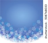 winter blue background with... | Shutterstock .eps vector #508768033