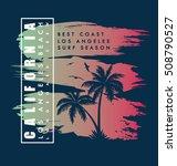 california beach typography... | Shutterstock .eps vector #508790527