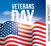 veterans day poster  banner ... | Shutterstock .eps vector #508793377