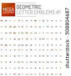 mega collection of letter logo... | Shutterstock . vector #508804687