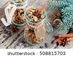 granola with chocolate chips... | Shutterstock . vector #508815703