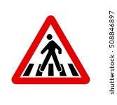 traffic sign pedestrian crossing | Shutterstock .eps vector #508846897