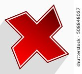 abstract cross  x icon  failure ...