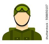 military paratrooper icon. flat ... | Shutterstock . vector #508850107