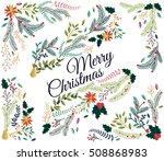 vector set of floral... | Shutterstock .eps vector #508868983