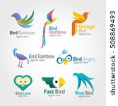 set of bird logo design... | Shutterstock .eps vector #508869493