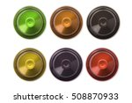 top view of 6 colourful coffee... | Shutterstock . vector #508870933