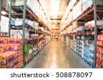 blurred image of shelves in... | Shutterstock . vector #508878097