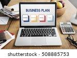 start up business strategy... | Shutterstock . vector #508885753