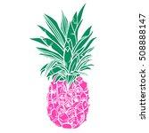 pineapple tropical fruit....   Shutterstock .eps vector #508888147