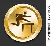 hurdles on golden internet... | Shutterstock .eps vector #50890801