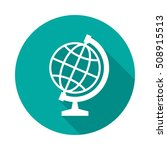 globe icon with long shadow.... | Shutterstock .eps vector #508915513