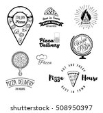 pizza. italian food. pizza.... | Shutterstock .eps vector #508950397