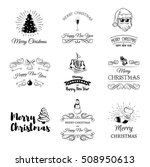 hand drawn christmas and new... | Shutterstock .eps vector #508950613