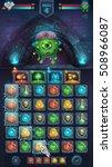 monster battle gui freak with... | Shutterstock .eps vector #508966087