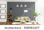 modern bright interior . 3d... | Shutterstock . vector #508981657