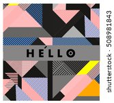 trendy geometric elements... | Shutterstock .eps vector #508981843