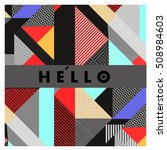 trendy geometric elements... | Shutterstock .eps vector #508984603