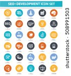seo and development icon set...