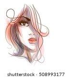 vector  stylish  original hand... | Shutterstock .eps vector #508993177