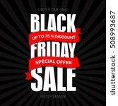 black friday sale text design... | Shutterstock .eps vector #508993687