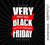 black friday sale text design... | Shutterstock .eps vector #508993717