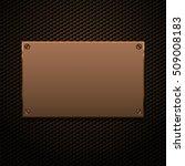 metallic plaque for signage | Shutterstock .eps vector #509008183