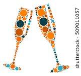 cheers shape vector design by... | Shutterstock .eps vector #509011057