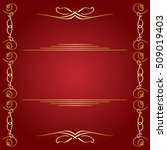 red background with golden... | Shutterstock . vector #509019403