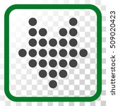 dotted arrow down green and... | Shutterstock .eps vector #509020423