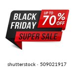 black friday super sale banner  ... | Shutterstock .eps vector #509021917