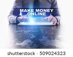 businessman is using tablet pc  ... | Shutterstock . vector #509024323