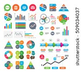business charts. growth graph.... | Shutterstock .eps vector #509034037
