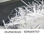 shredded documents | Shutterstock . vector #509049757