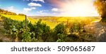 panoramic landscape with autumn ... | Shutterstock . vector #509065687