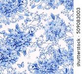 beautiful watercolor pattern...   Shutterstock . vector #509083003