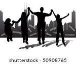 city and people | Shutterstock .eps vector #50908765