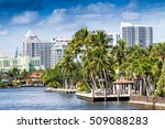 buildings along fort lauderdale ... | Shutterstock . vector #509088283