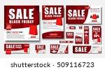 set web banner standard size... | Shutterstock .eps vector #509116723