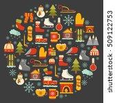 vector cartoon illustration... | Shutterstock .eps vector #509122753