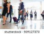 blurred motion of business... | Shutterstock . vector #509127373