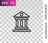 bank icon vector.