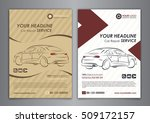 a5  a4 set car repair service... | Shutterstock .eps vector #509172157
