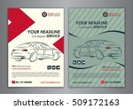 a5  a4 set car repair service... | Shutterstock .eps vector #509172163