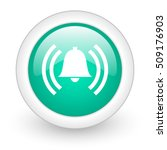 alarm round glossy web icon on... | Shutterstock . vector #509176903